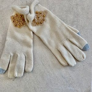 Special novelty ivory gloves 'new'